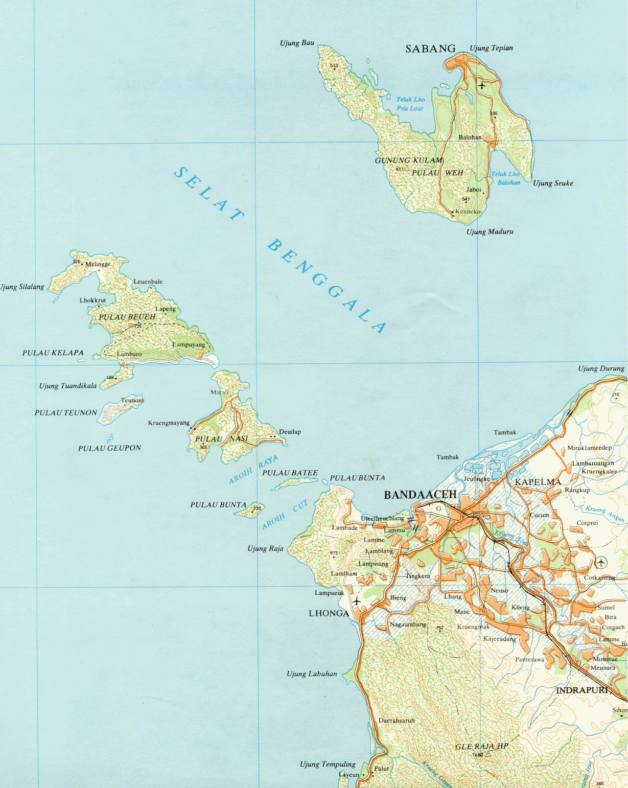 Map of tsunami devastated areas in sumatra indonesia by peter loud banda aceh gumiabroncs Images