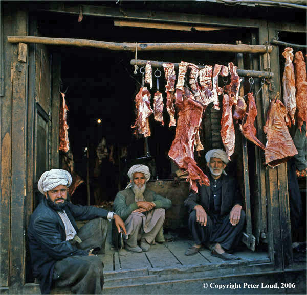Photographs of Afghanistan by Peter Loud, Afghan Butcher's Shop, Herat