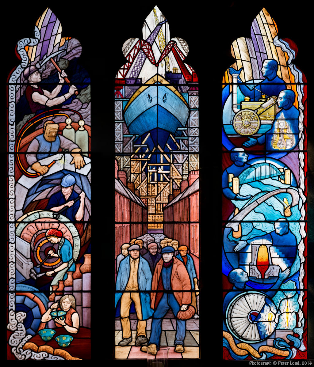 The cathedral church of st mary newcastle upon tyne for Stained glass window church