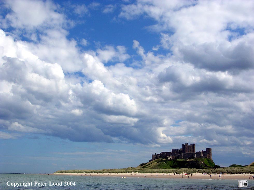Photographs of Northumberland by Peter Loud, Bamburgh Castle
